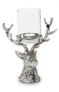Stag Head Hurricane Lantern