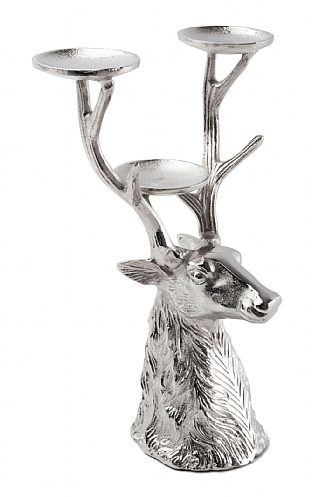 Three Prong Stag Candle Holder