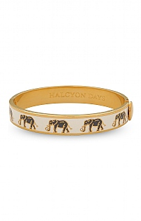 Halcyon Days Elephant Motif Hinged Bangle