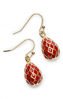 Halcyon Days Agama Egg Earrings