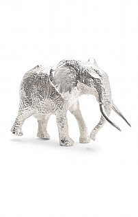 Silver Plated Bull Elephant