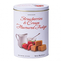 Gardiners Strawberries & Cream Fudge Tin 300g