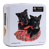 Gardiners Scottie Dog Vanilla Fudge Tin 300g