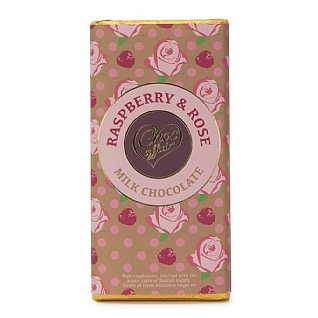 Raspberry & Rose Milk Chocolate 100g