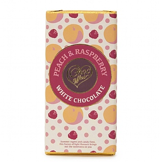 Peach & Raspberry White Chocolate 100g