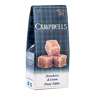 Campbells Strawberry & Cream Tablet 140g