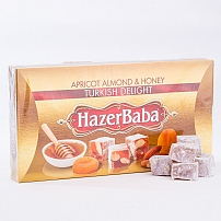 Hazer Baba Apricot, Almond & Honey Turkish Delight 454g