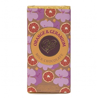 Orange & Geranium Milk Chocolate 90g