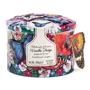 Gardiners Butterflies & Flowers Vanilla Fudge Tin 200g