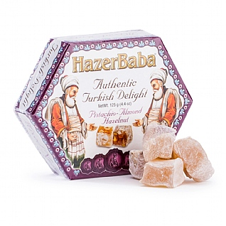 Hazer Baba Pistachio, Almond and Hazelnut Turkish Delight 125g