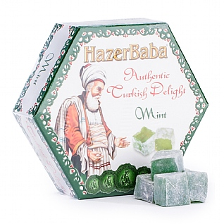 Hazer Baba Creme De Menthe Turkish Delight 250g