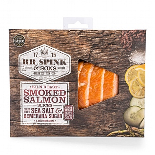 RR Spink & Sons Kiln Roasted Smoked Salmon 120g