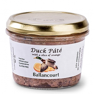 Ballancourt Duck Pâté With A Slice Of Orange 180g