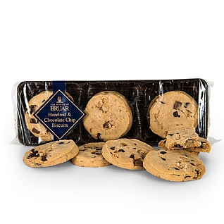 The House of Bruar's Hazelnut & Choc Chip Biscuits 150g