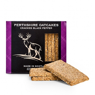 Perthshire Oatcakes' Cracked Black Pepper 150g