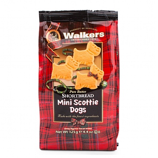 Walker's Mini Shortbread Scottie Dogs 125g
