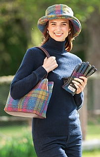 Cassley Classic Harris Tweed Handbag