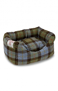 Small Harris Tweed Square Dog Bed