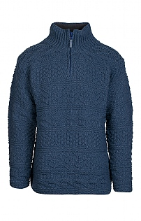 Men's Aran T-Zip