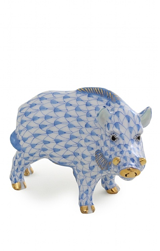 Herend Blue Wild Boar