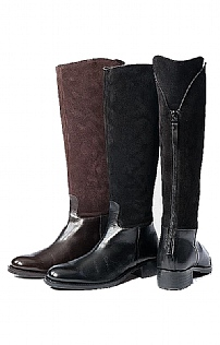 Ladies Suede & Leather Long Boot