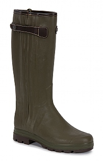 Mens Leather Lined Zip Heritage Welly