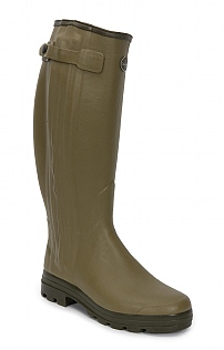 Mens Full Zip Leather Lined Wide Calf Welly