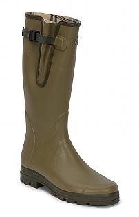 Mens Cotton Lined Gusset Welly