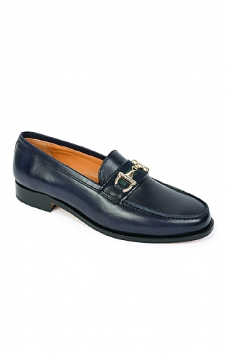 Leather Snaffle Loafer with Tape