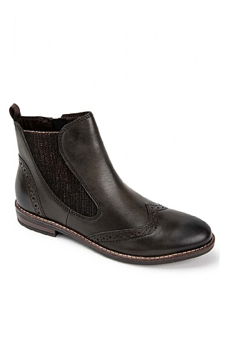Marco Tozzi Brogue Chelsea Boot