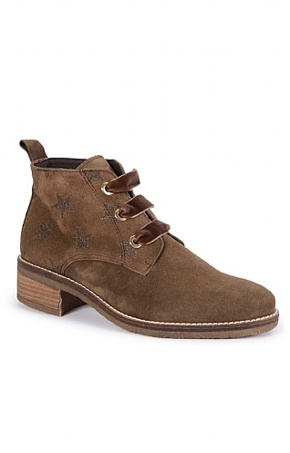 Suede Star Lace Up Boot