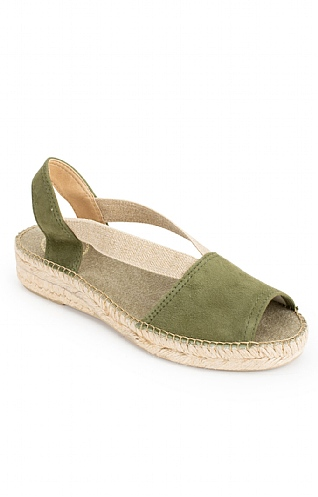 Toni Pons Suede Open Toe Flat Espadrille