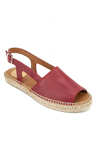 Toni Pons Leather Open Toe Flat Espadrille