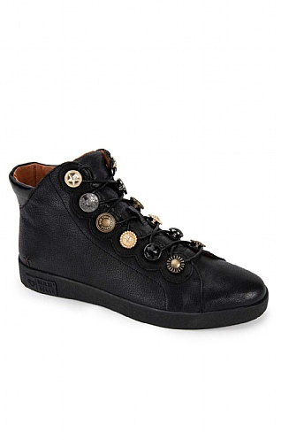 Coin and Button Short Boot