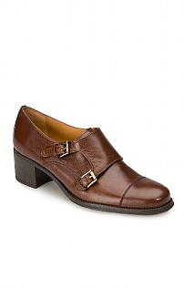 Double Buckle Leather Shoe