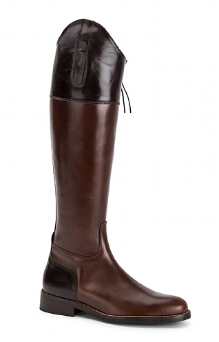 Contrast Leather Riding Boot