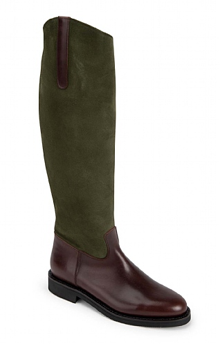 Suede/Leather Riding Boot