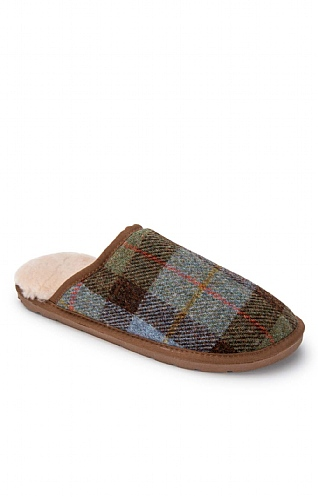 Men's Harris Tweed Mule Slippers