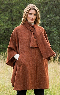 Tweed Herringbone Cape