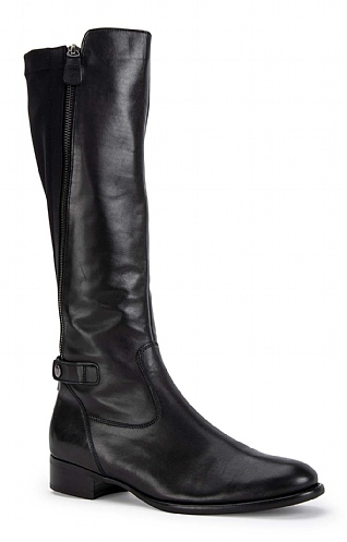Gabor Stretch Back Asymmetric Zip Boot