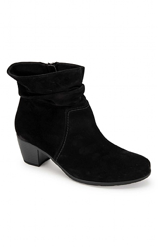 Gabor Ruched Suede Boot