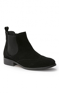 Brogue Suede Chelsea Boot
