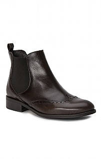 Brogue Leather Chelsea Boot