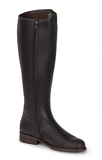 Traditional Leather Riding Boot - Wide Fit