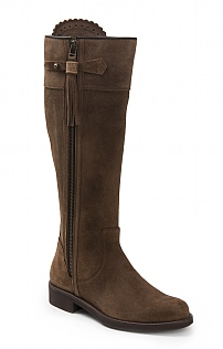 Suede Tassel Riding Boot
