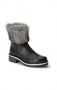 Fur Trim Leather Boot