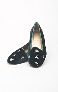 Ladies Multi Bee Velvet Slipper