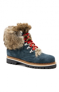 Fur Trim Suede Boot