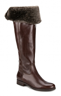 Ladies Long Sheepskin Lined Boot