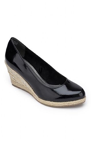 Marco Tozzi Patent Wedge
